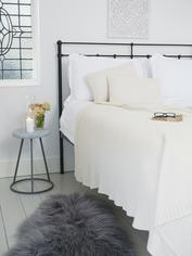 Textured Ivory Throw