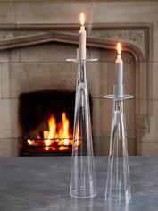Contemporary Glass Candle Holders