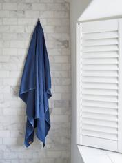 Pure Linen Hammam Towel - Denim Blue