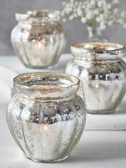 Mercury Silvered Pumpkin Tealights