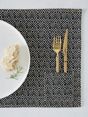 Graphic Print Placemat - Ebony