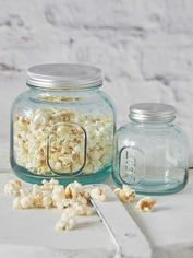 Recycled Glass Storage Jar Set