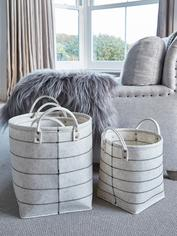 Ivory Felt Basket Set