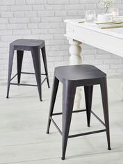 Industrial Cafe Stool - Graphite