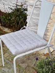 Pin-Stripe Seat Pad - Natural