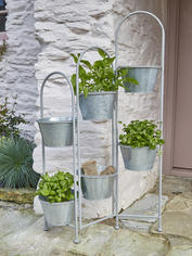 Rustic Zinc Multi-Planter
