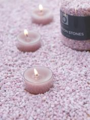 Pastel Lilac Candle Gravel
