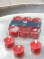 Truly Red Clear Cup Tealights