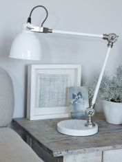 Metal Desk Lamp - White