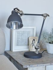 Metal Desk Lamp - Matte Charcoal